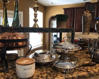 lovely silver-plate- copper pewter items