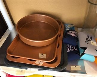 copper cookware-  many pieces  to  choose from