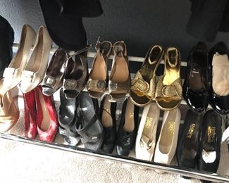 ladies shoes - and scarfs- some Chicos - and better brands too - ferragamo-brighton, yellowbox  more