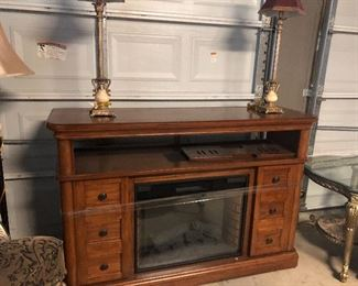 tv center -fireplace unit