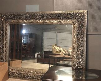 monster mirror. -its not small or light - but fabulous for the right room and family or business   -rare find and great price !!
