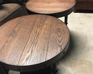 have a few  occasional round tables  like these -1 matching coffee table size round table too