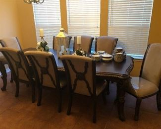 long shot of formal dining room