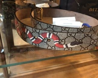 gucci -snake belt