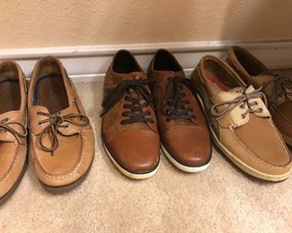 kenneth cole  BROWN DRESS SHOE SOLD and sperry   and lots of tennis shoes