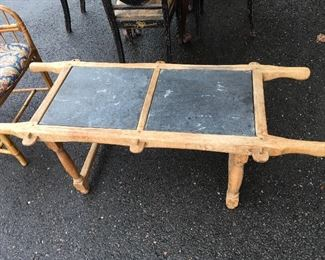 primitive antique slate table