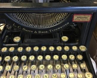 Antique L.C. Smith & Bros Typewriter