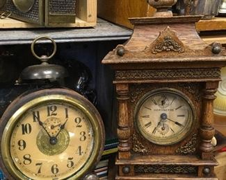 old clocks, LPs