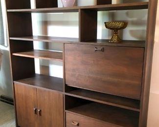 Danish Modern Walnut Bookcase/Desk