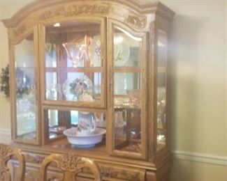 Matching dining room hutch