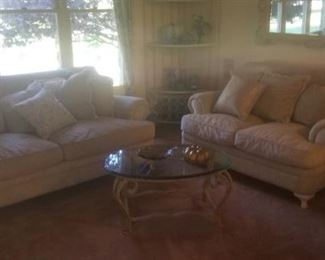 formal living room set immaculate, high end