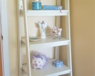 shelving unit with decor