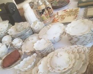 Entire set of Limoges Haviland China with all accessories and serving pieces