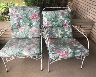 These are part of a wrought-iron set -- two chairs -- very nice