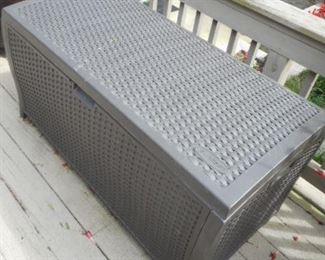 vinyl  chest for patio/deck storage