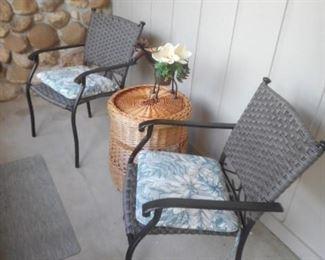 vinyl weave metal chairs