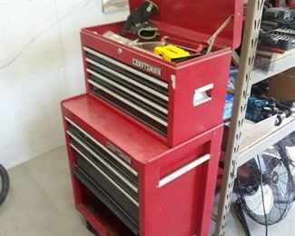 Craftsman two part tool box on wheels