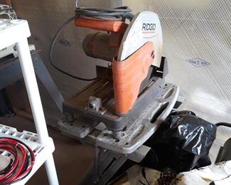 Ridgid saw for cutting steel