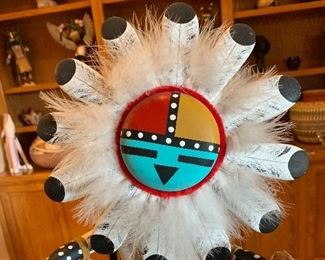 21in Kachina Sun Face Singed Hopi Native American	21in H