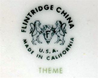 Flintridge china, Theme pattern, U.S.A., California