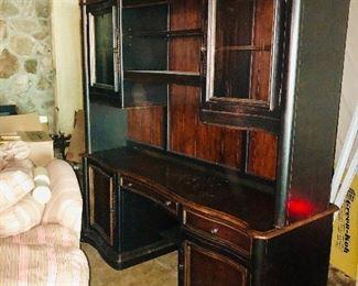 Hooker Furniture executive desk credenza including additional matching desk & lateral file cabinet