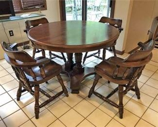 Lot 006  Solid Wood Dining Set