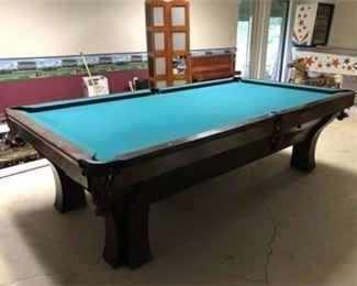 Lot 018  Vintage Brunswick Slate Pool Table