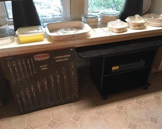 TV Console & Challenger Wooden Tool Sign