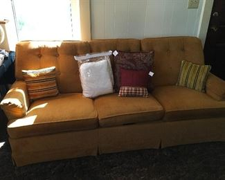 Retro Sleeper Sofa & a Hand Knitted KIng Size Spread
