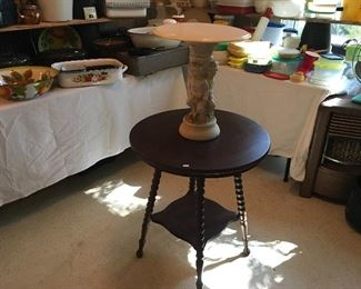 Barley Twist Table & Angel Table