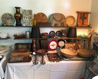 Vintage Wooden Boxes, Time Life The Old West Books, Signed Munising Dough Bowls