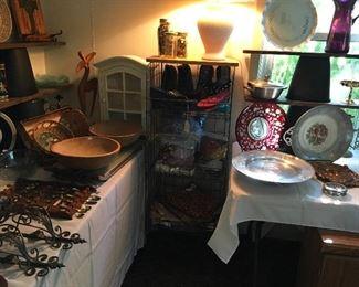 Vintage Metal Display & Curio Cabinet