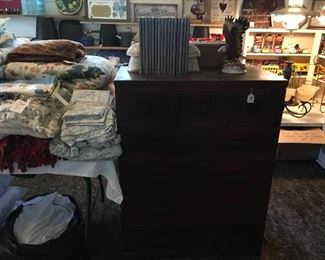 Chest of Drawers, Eagle Figurine, & Time Life Civil War Books