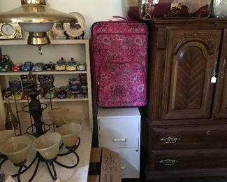 Luggage & File Cabinet on Rollers