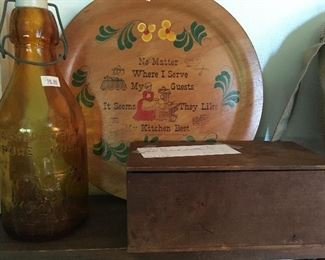 Absolutely Pure Milk Bottle & Alpha Medical Institute Box