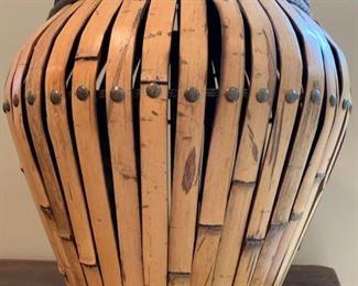 Bamboo Lidded Urn