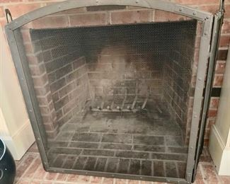 22. Wrought Iron Tri-Fold Fireplace