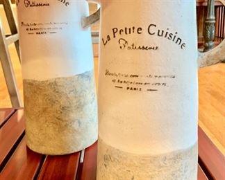 """28. La Petite Cuisine 17"""" Ceramic Pitcher 29. La Petite Cuisine 14"""" Ceramic Pitcher"""