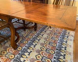 "31. Henredon Acquisition Plank Top Dining Table w/ 2-20"" Refractory Leaves (40"" x 72"" x 31"")"