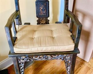 52. Pair of Asian Chairs w/ Gilt Accent