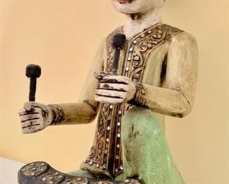 "50. Pair of Thai Musical Figurines (17"")"