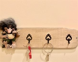 "61. Troll Key Rack by Paul Bornor (17"")"
