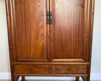 "66. Asian Armoire 2 Door, 4 Drawer (41"" x 21"" x 58"")"