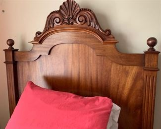 68. Carved Twin Bed