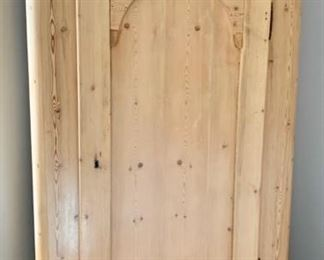 "76. Antique Pine Armoire (38"" x 21"" x 78"")"