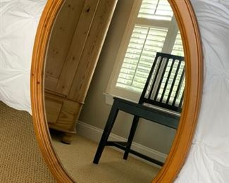 "78. Pine Framed Oval Mirror (26"" x 36"")"