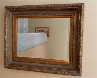 "84. Beveled Gilt Framed Mirror (34"" x 28"")"