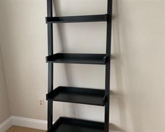 "92. Black Leaning Bookshelf (25"" x 14"" x 72"")"