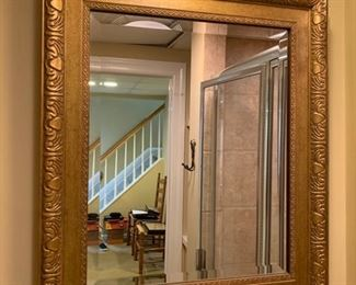 "101. Beveled Mirror w/ Gilt Frame (22"" x 26"")"