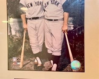 "109. NY Yankees Photo Collage Mickey Mantle and Roger Maris; Lou Gehrig and Babe Ruth; Alex Rodriguez and Derek Jeter (34"" x 20"")"